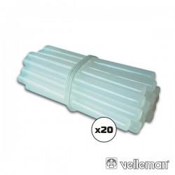 Conjunto de 20 Barras de Cola Quente 7mm Velleman