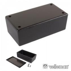 Caixa de Plástico Preta 130X70X45mm