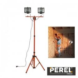 Projector Com Tripé Portátil 2 X 400W Halogéneo Perel