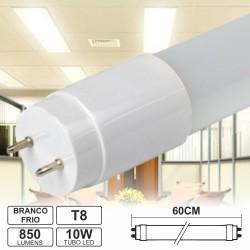 Lâmpada LED Tubular T8 10W 60cm Branco Frio 850Lm