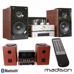 Sistema Áudio A Válvulas 2X80W Vintage Cd/Usb/Bt/Fm Madison