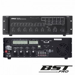 "Amplificador Misturador 19"" 5 Zonas 70W 100V Phantom Bstpro"