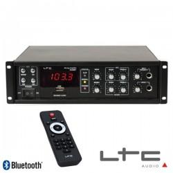 Amplificador 4 Canais 100V/70V/8/4Ohm 220V 80W Usb/Bt Ibiza