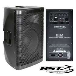 """Coluna Amplificada Pro 12"""" 500Wmáx Abs Bst"""