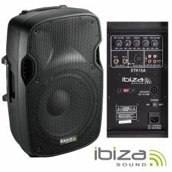 "Coluna Bi-Amplificada 15"" 600Wmáx Abs Ibiza"