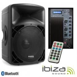 "Coluna Amplificada 15 400Wmáx Comando Usb/Bt Ibiza"""