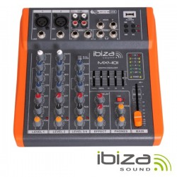 Mesa de Mistura 4 Canais 3 Entradas Phantom Usb/Rec Ibiza
