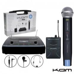 Central Microfone S/Fios 2 Canais Uhf 863.3/864.3Mhz Kam