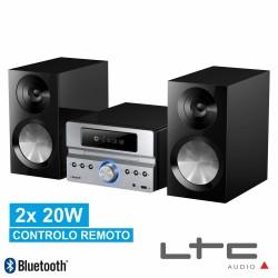 Sistema HI-FI 2.1 C/ Rádio Am/Fm 2 Colunas Usb/Cd/Bt Prata 2X20W - Ltc