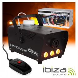 Máquina de Fumos 400W c/ 3 Leds 3W E Comando Preta Ibiza