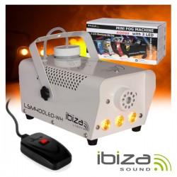 Máquina de Fumos 400W c/ 3 Leds 3W E Comando Branca Ibiza