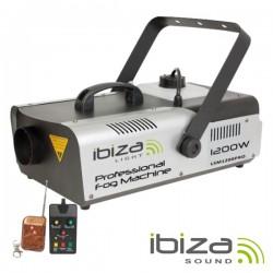 Máquina de Fumos 1200W Controlador/Comando Dmx Ibiza