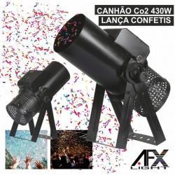 Máquina Canhão Lança Confetis Co2 430W Comando Dmx Afxlight
