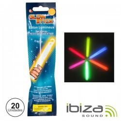 Conjunto 20 Barras Maleáveis Iluminados Multicor 150mm Ibiza
