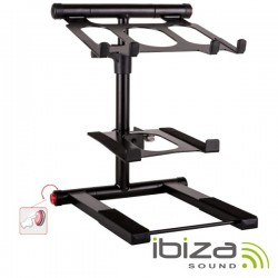 Suporte Duplo p/ Dj Ajustável 360º 15Kg Ibiza