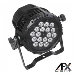 Projector Luz c/ 18 Leds 10W Rgbw Dmx Ip65 Afxlight