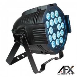 Projector Luz c/ 18 Leds 18W Rgbawuv Comando Dmx Afxlight
