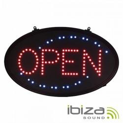 Painel Indicador Open / Aberto c/ Leds Formato Oval Ibiza