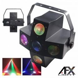 Projector Luz c/ 20 Leds 3W Rgbw 5 Lentes Dmx Mic Afxlight