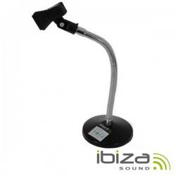 Suporte p/ Microfone Mesa Pescoço Cisne 28cm Ibiza