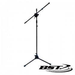 Suporte p/ Microfone Duplo 100-168cm Preto Bst