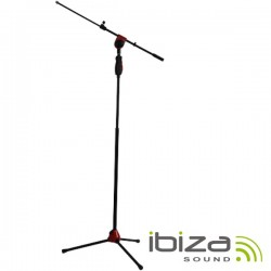 Suporte p/ Microfone Universal Vermelho Ibiza