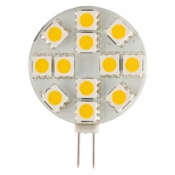 Lâmpada G4 3W 12V 12 Leds Smd 5050 Branco Quente