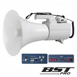 Megafone 45W Mic Removível Mp3 12V Usb/Sd 2 Alertas Bstpro