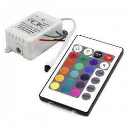 Controlador p/ Fita LEDs Rgb 12V c/Comando