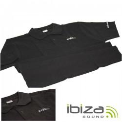 Polo Algodão Logotipo Bordado Preto Xl Ibiza