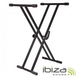Suporte p/ Teclado Bloqueio Duplo 65-96cm 75Kg Ibiza