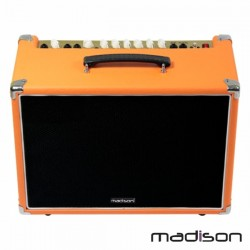 "Amplificador p/ Guitarra + Coluna 8"" Aux/Mp3 60W Madison"