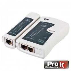 Testador de Cabos Rede Rj11/Rj45 Prok