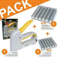 Pack Agrafador Cp-391 + Agrafos Cp-391-1 E Cp-391-2 Proskit