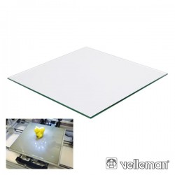 Painel Vidro p/ Impressora 3D K8200 215X215X3mm Velleman