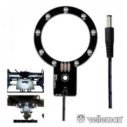 Anel de LEDs p/ Impressora 3D K8200 Velleman