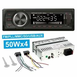 Auto-Rádio Mp3 Wma 50Wx4 c/ Fm/Pll/mmc/Sd/Usb