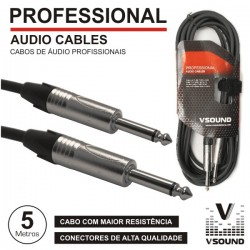 Cabo Pro Jack 6.35mm Macho / Macho 5M Mn Vsound