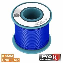 Cabo Unifilar Azul 0.5mm Rolo 25M Prok