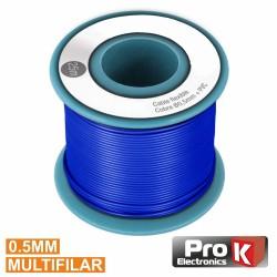 Cabo Multifilar Azul 0.5mm Rolo 25M Prok