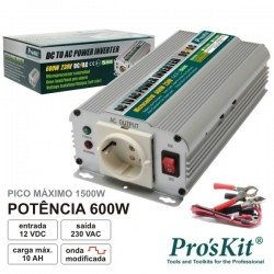 Conversor 12V-230V 600W Onda Sinusoidal Modificada Pro'sKit