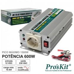 Conversor 12V-230V 600W Onda Sinusoidal Modificada Proskit