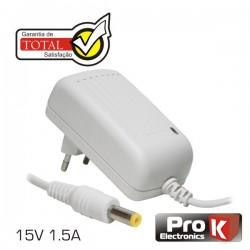Alimentador Switching 15V 1.5A Branco Prok