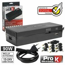 Alimentador Switching 15-24V 5A c/Usb Prok