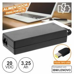 Alimentador p/ Ibm/Lenovo 20V 3.25A 65W
