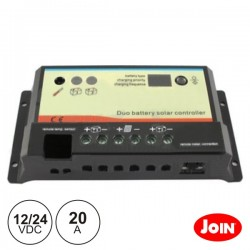 Regulador Painel Fotovoltáico 20A 12/24Vdc Join