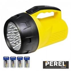 Lanterna 16 Leds Potentes c/ 4 Pilhas Perel