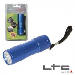 Lanterna Alumínio 9 Leds Alto Brilho Azul Ltc