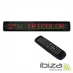 Placa Mensagem Led Multicor Comando Vva Ibiza