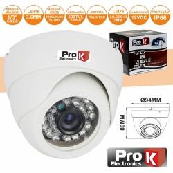 "Camara Vigilância Dome Ccd Cores 800L 1/3"" Prok"